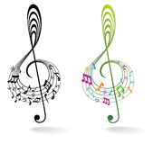 Background with Music Note. Stock Image