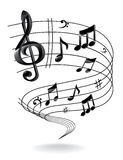 Background with Music Note. Royalty Free Stock Photos