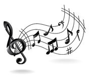 Background with Music Note. Royalty Free Stock Photography