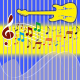 Background with Music Note. Royalty Free Stock Photo