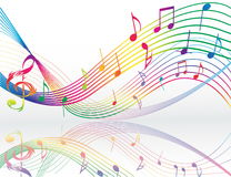 Background with music notes Stock Images