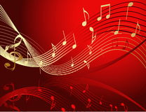 Background with music notes Stock Photos