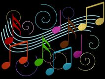 Background music with notes. Abstract background music with notes Royalty Free Stock Photo