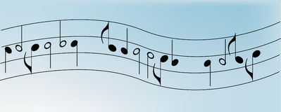 Background - Music notes Royalty Free Stock Photography