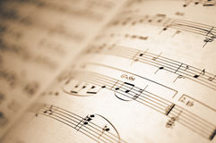 Background music notes Royalty Free Stock Photos