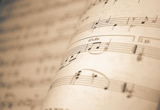 Background music notes Stock Image