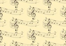 Background with music notes. A seamless background with music notes Royalty Free Stock Images