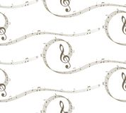 Background with music notes. A seamless background with music notes Royalty Free Stock Photos
