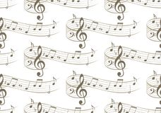 Background with music notes. A seamless background with music notes Stock Images