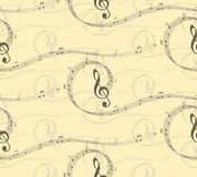 Background with music notes. A seamless background with music notes Stock Image