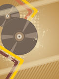 Background with music plate Stock Images