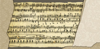 Background with music sheet page Stock Images