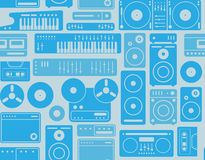 Background with music symbols Royalty Free Stock Photos