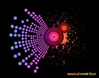 Background for Musical Event Flyer Stock Photos