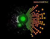 Background for Musical Event Flyer Stock Images