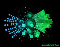 Background for Musical Event Flyer Stock Image