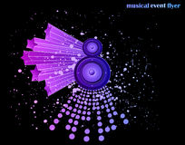 Background for Musical Event Flyer Royalty Free Stock Image