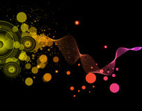 Background for Musical Event Flyer Royalty Free Stock Photo