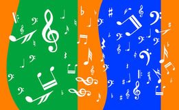 Background with musical notation Royalty Free Stock Photos
