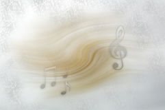 Background with musical notes. Light coloured background with musical notes floating Stock Images
