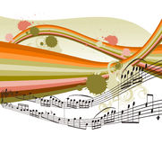 Background with musical notes Royalty Free Stock Image