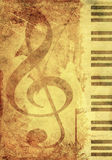 Background with musical symbols Royalty Free Stock Photos