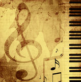 Background with musical symbols Stock Image