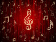 Background of musical symbols Stock Image
