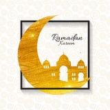 Background for Muslim Community Festival Ramadan Kareem.  Eid Mu Royalty Free Stock Photo
