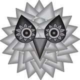 Background of the mystical owl. Vector illustration royalty free illustration