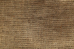 Background of a natural burlap Stock Images