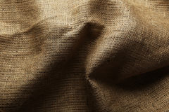 Background of a natural burlap Stock Photography