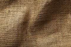 Background of a natural burlap Royalty Free Stock Photography