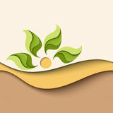 Background in natural colors. Eco concept Stock Photo