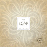 Background for natural handmade soap. Graphid design element. Stock Photography