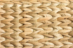 Background of natural pattern. Close up of a hand woven weave pattern background. Natural material of bamboo, straw and dried banana leaf Stock Image