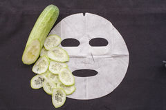 Background natural sheet mask cucumber Stock Image