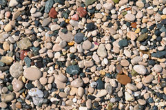 Background of natural stone pebbles Stock Photos