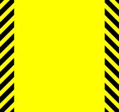 Yellow And Black Warning Background vector illustration