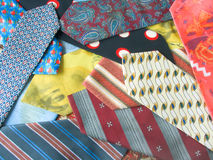 Background from neckties Stock Photos