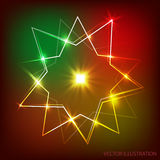Background with neon banner. Vector illustration. Stock Images