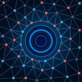 Background network. Background circles dots and lines. Royalty Free Stock Photography