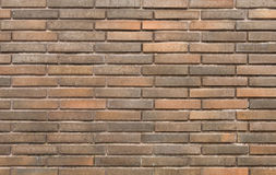 Background of new brick wall in dark tones Royalty Free Stock Photos