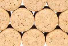 Background of new champage corks. Royalty Free Stock Image