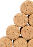 Background of new champage corks. Royalty Free Stock Images