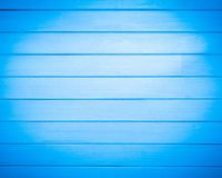 Background of new natural wooden table blue color.  royalty free stock photography