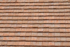 Background new roof tiles. Royalty Free Stock Photo