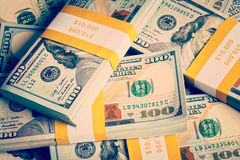 Background of new 100 US dollars 2013 banknotes Stock Images