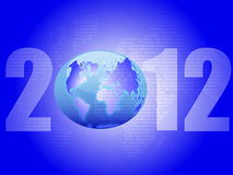 Background on the New Year. New blue background with the image of planet earth (eps 10 Royalty Free Stock Image