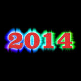 Background new year 2014 Royalty Free Stock Image